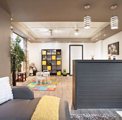 Un sous-sol familial et convivial - Sous-sol - Inspirations - Décoration et rénovation - Pratico Pratique