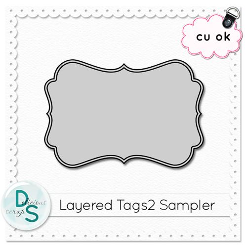 delicious scraps new cu layered tag templates 2 in the shop and free cu tag sampler party. Black Bedroom Furniture Sets. Home Design Ideas