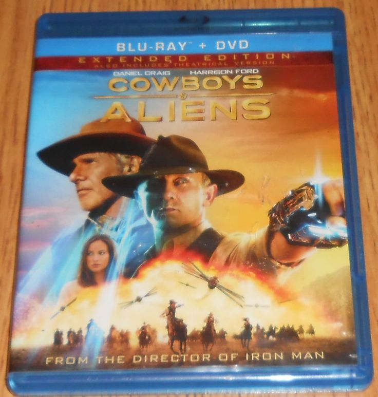 Cowboys & Aliens Blu-Ray DVD Daniel Craig Harrison Ford  Extended Cut