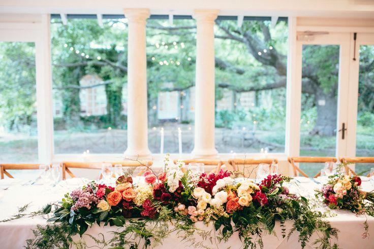 Bridal table, enchanted forest wedding, Milton park Bowral