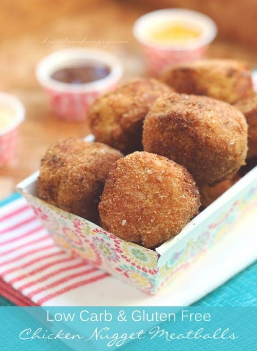 Chicken nugget meatballs! A kid friendly meatball recipe based on everybody's favorite drive thru chicken nuggets! A low carb, gluten free, keto, atkins, lchf, Paleo friendly recipe.