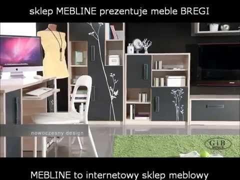 #Meble młodzieżowe BREGI z grafikami. 4 motywy do wyboru. #pokójnastolatka może być #trendy - przedstawia sklep MEBLINE