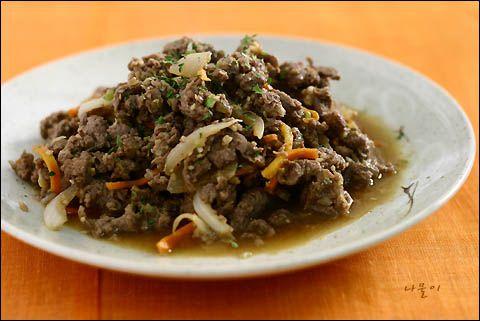 簡単!韓国料理レシピ > 肉の料理 > 牛肉のプルコギ ^^
