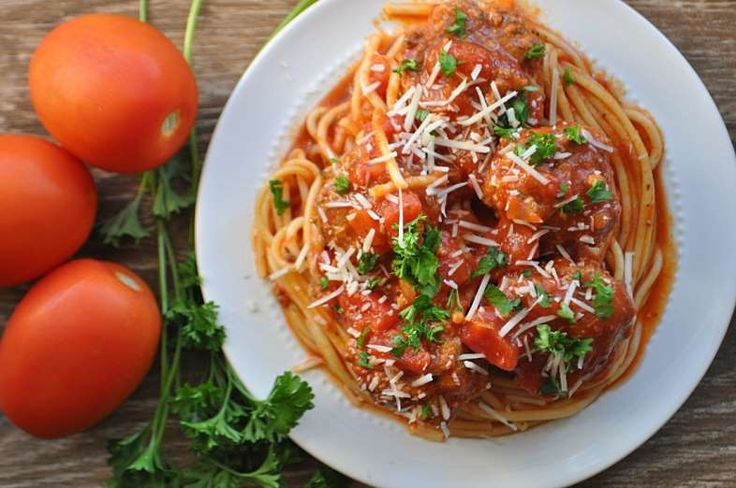 Spaghetti and meatballs is pure comfort food. Whether you prefer regular spaghetti noodles or decide... - House of Yumm