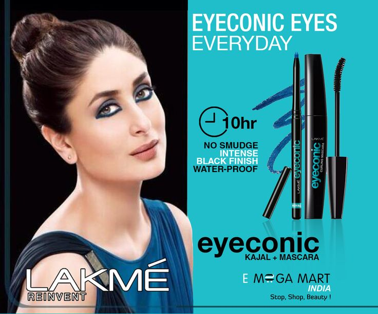 """""""Beauty is power, and makeup is something that really enhances that; Its a woman's secret""""- Charlotte Tilbury Eyeconic Kajal and Mascara- Lakmé Reinvent(To buy-click on pic)#eyemakeup #eyemakeupproducts #makeupproducts #makeupproduct #makeup #blackmascara #eyeconic #smudgefree #smudgeproof #intenseblack #makeupbrands #kajal #mascara #mascaras #cosmetics #brandedcosmetics #eyeliner #eyeliners #eyelinerstylo #eyelinerblack #blackeyeliner #lakmeeyeliner #lakmémakeup #emegamartindia"""