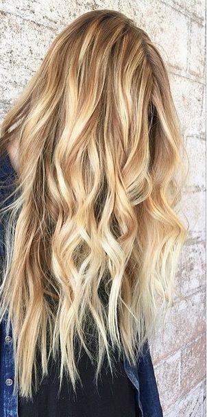 honey blonde and caramel toned balayage highlights More