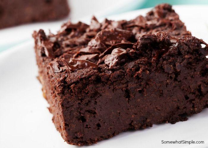 Brownies in pan food porn