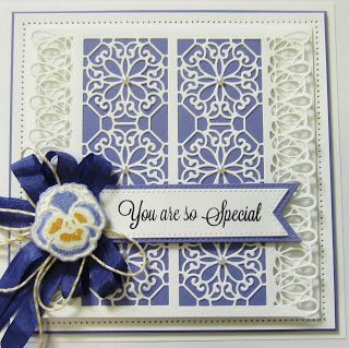 PartiCraft (Participate In Craft): Sparkling Pansy card