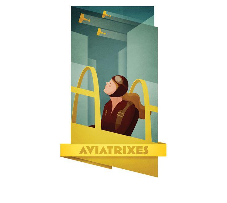 aviatrixes - Andrew LyonsLyon 1768, Design Inspiration, Aviatrix Httpwwwlyonsacom, Illustration, Art Prints, Aviatrix Art, Aviatrix Http Www Lyonsa Com, Andrew Lyon, Puck1Alyonsjpg 670837