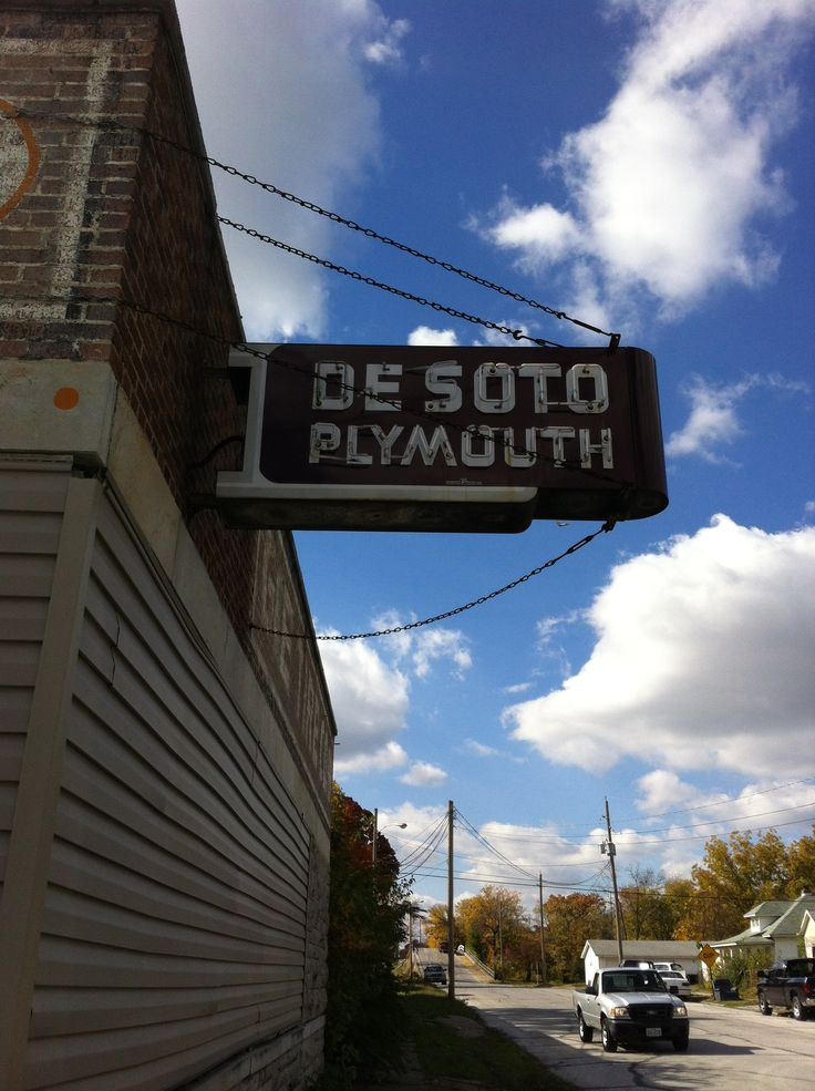 Old sign in Carthrage, Mo. Plymouth / DeSoto Dealership