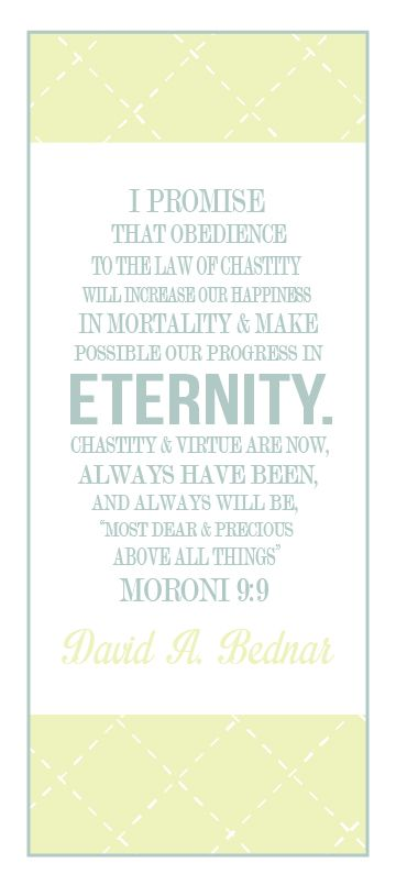 All Things Bright and Beautiful: Come Follow Me: Importance of Chastity