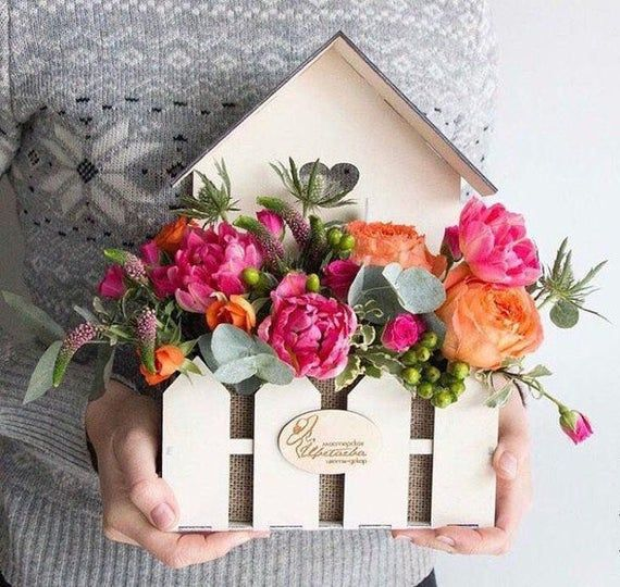 Drawing Wooden Vase Plywood Box For Flowers Vase Cnc Wedding Box For Flowers Vector Model Vase Ve Flower Box Gift Wooden Flower Boxes Flower Boxes