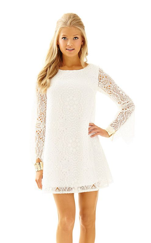Lilly Pulitzer Colette Lace Tunic Dress in Coconut Sunburst Lace