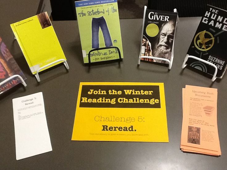 Challenge 5: Reread something! Visit the library to pick up an old favorite.