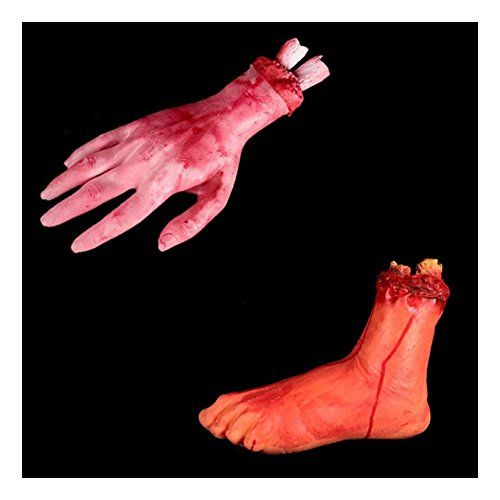2pcs Halloween Bloody Fake Body Parts Decoration Props