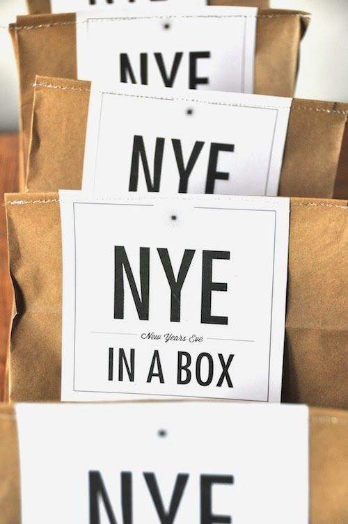 Happy New Year diy in a box gift confetti wunderkerzen