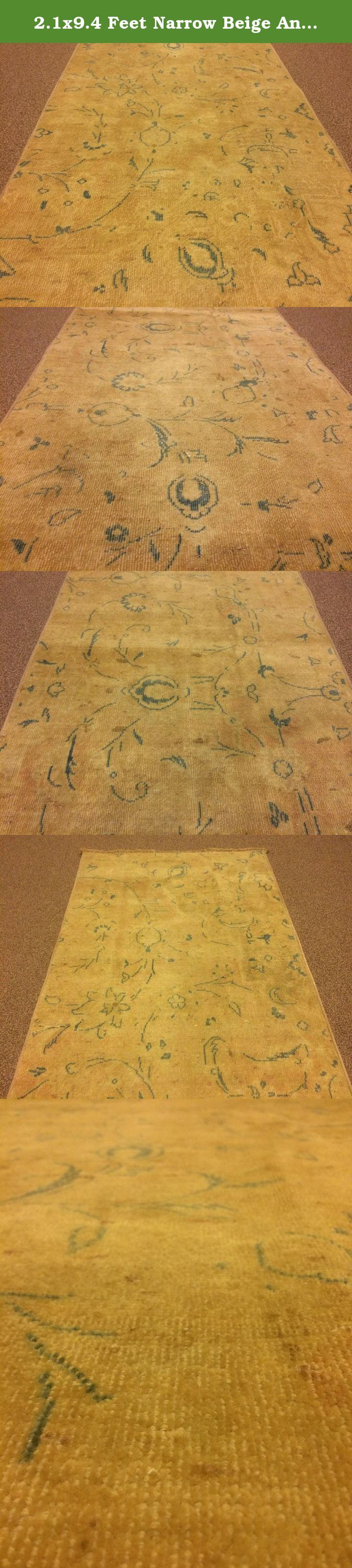 2.1x9.4 Feet Narrow Beige And Turquoise Handmade Rug Runner Flower Design Hallway And Kitchen Carpet.Code:VP577. It is %100 handmade carpet runner.All colours are natural dyed. Size:2.1x9.4 feet 62x283 cm Material:wool on cotton Code:VP577 Fast Worldwide Shipment in 1-3 business days after the order and it may take an additional 3-5 days for delivery. All items are shipped by Fedex and Ups.Please note that light effect, monitor's brightness, contrast etc. may cause a slight color…
