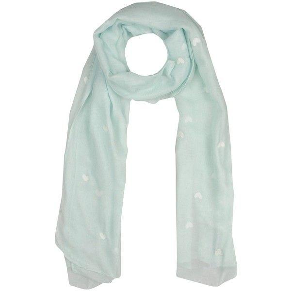 Naf Naf Scarf ($29) ❤ liked on Polyvore featuring accessories, scarves, sky blue, viscose scarves, patterned scarves, naf naf, rayon scarves and print scarves