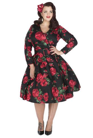 Long dress plus size rockabilly dresses