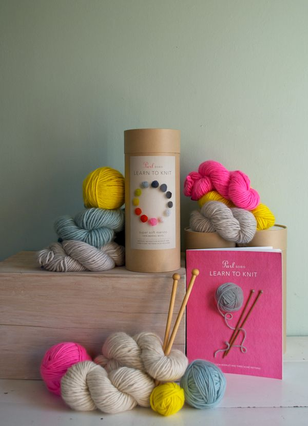 New! Purl Soho's Learn To KnitKit! - Knitting Crochet Sewing Crafts Patterns and Ideas! - the purl bee