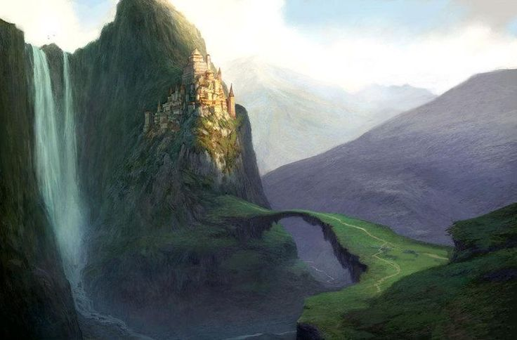 "I wrote my drabble ""Subsistence"" after coming across this image. Isn't it amazing! http://images2.layoutsparks.com/1/159048/castle-mountains-cliff-waterfall.jpg"