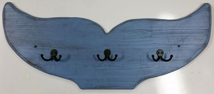 Handcrafted Wooden Whale Tail Rack: Beach Decor, Coastal Decor, Nautical Decor, Tropical Decor, Luxury Beach Cottage Decor
