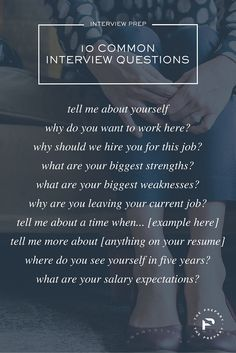 25+ best ideas about Common job interview questions on Pinterest ...