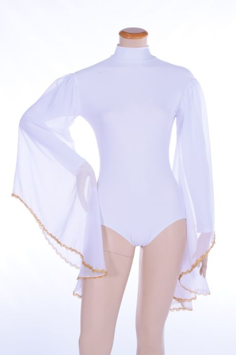 The Bride Long Angel Wing Leotard w/Trim