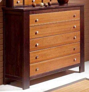 Comoda para habitacion en madera con cinco cajones ideas - Comodas para habitacion ...