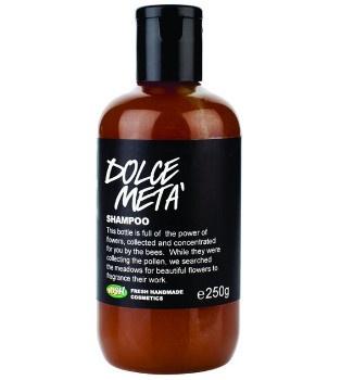 Dolce Metà - LUSH  Lo shampoo che addolcisce tutto: i capelli di ogni genere, l'acqua troppo dura e anche il mondo, perché contiene il 50% di miele del commercio equo e zero conservanti.