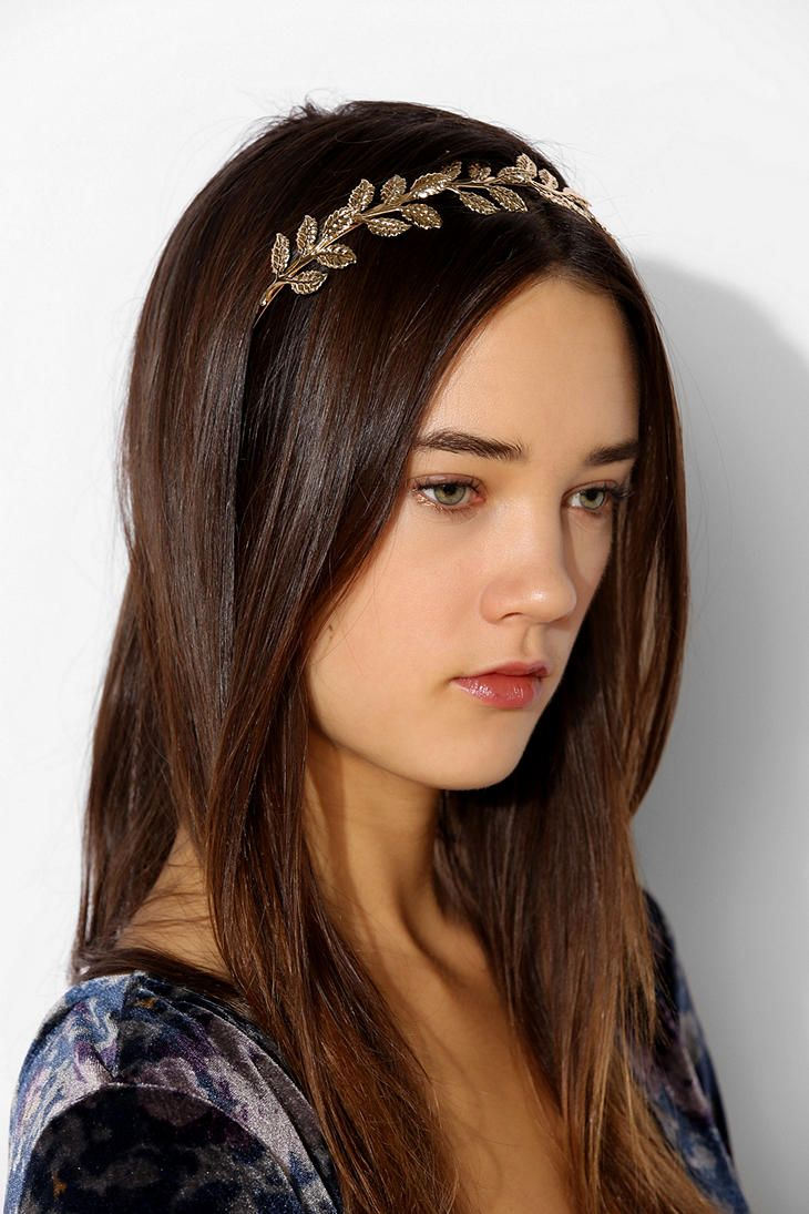 Gold leaf headband as a possible hair accessory for bridesmaids?