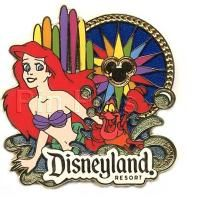 DLR - Walt Disney Travel Company - World of Color - Ariel & Sebastian - Pin 83563