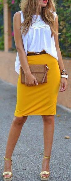 fun yellow skirt