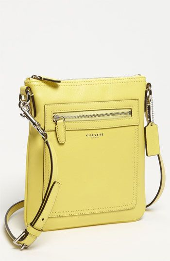 COACH 'Legacy' Leather Crossbody Bag available at Nordstrom. Luv the size of this, I can't handle huge, heavy handbags, they give me a neck ache, this is perfect and love the colors and it is easy on the pocketbook!