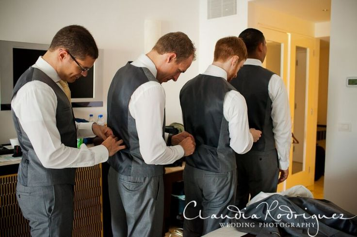 Groomsmen getting ready.  Photo by Claudia Rodriguez Daily Blog feature http://bit.ly/1QXAiEM #lizmooreweddings