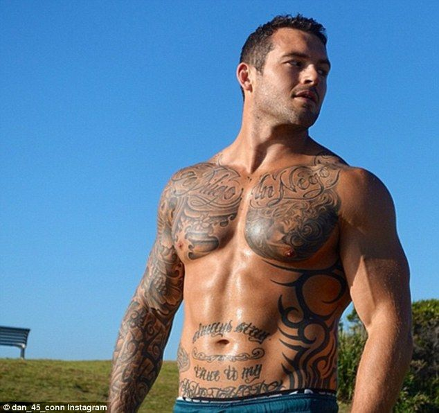 Eye candy alert: Former NRL hunk and Geordie Shore star Daniel Conn is also in the running...