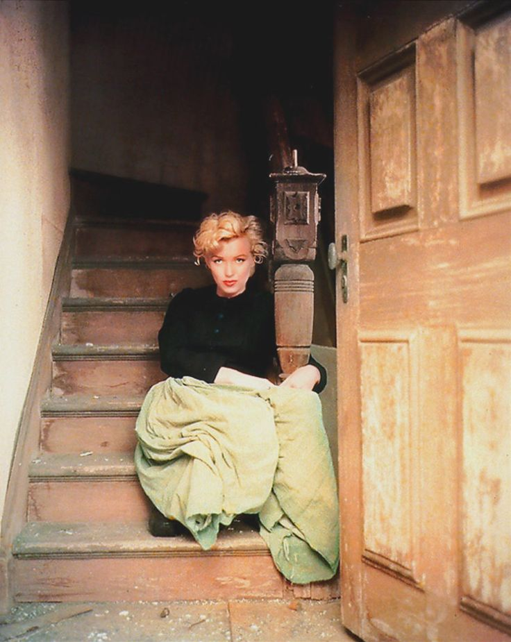 "Marilyn Monroe by Milton Greene- ""The Dutch Girl Sitting""-1954"