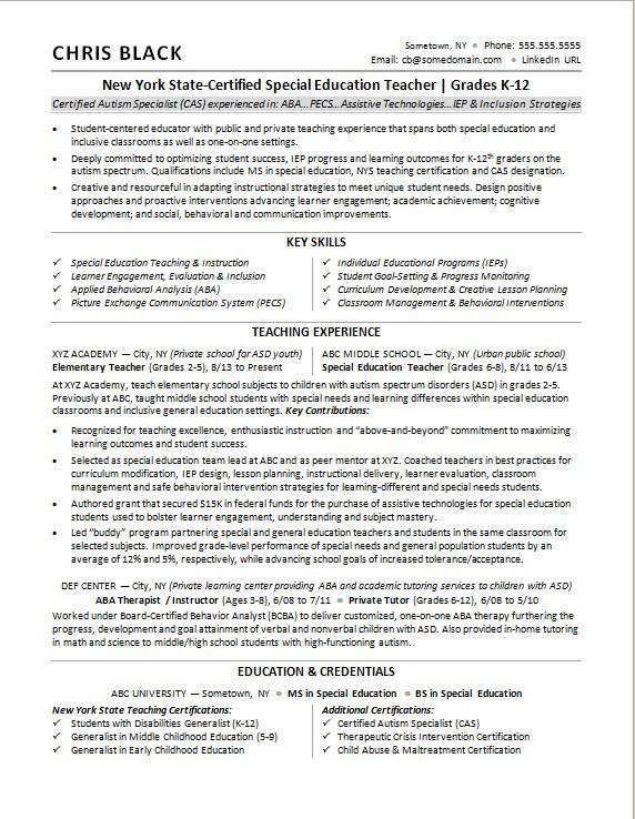 Sample Resume For A Teacher Teacher Resume Jobs For Teachers Teacher Resume Template