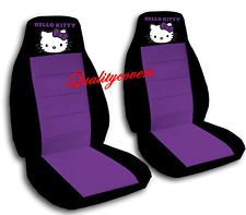 HELLO KITTY CAR SEAT COVERS SO CUTE IN BLACK WITH PURPLE