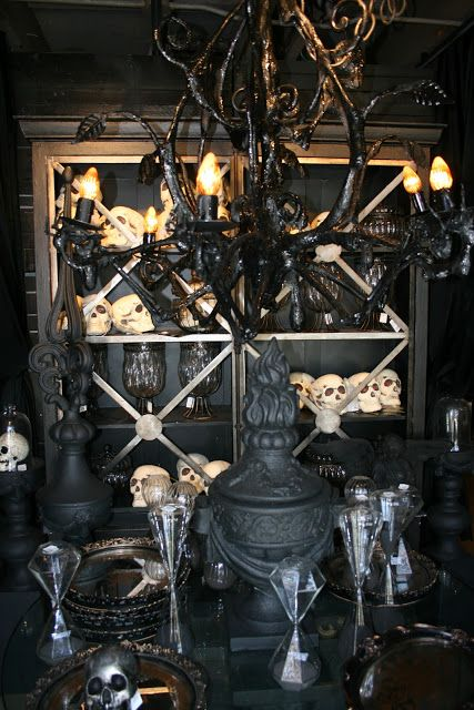 Maybe buy a bunch of cheap sugar skulls halloween party pinterest halloween displays - Cheap medieval home decor ...