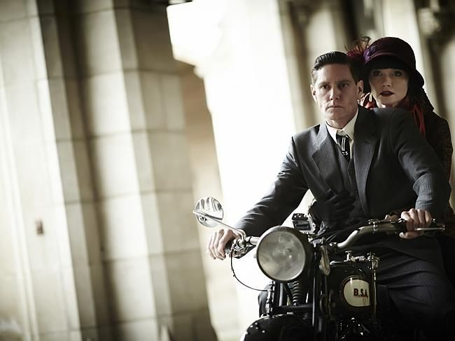 Phryne Fisher (Essie Davis) and Jack (Nathan Page). Picture: ABC