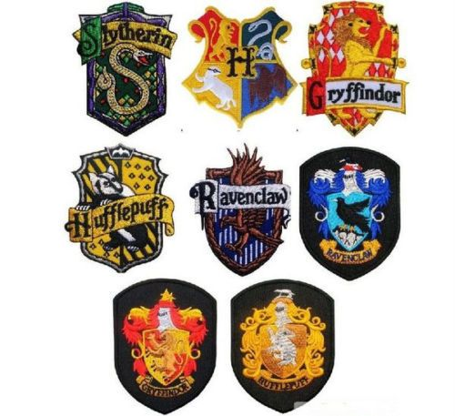 Details about Hogwarts School Harry Potter Crest Iron ...