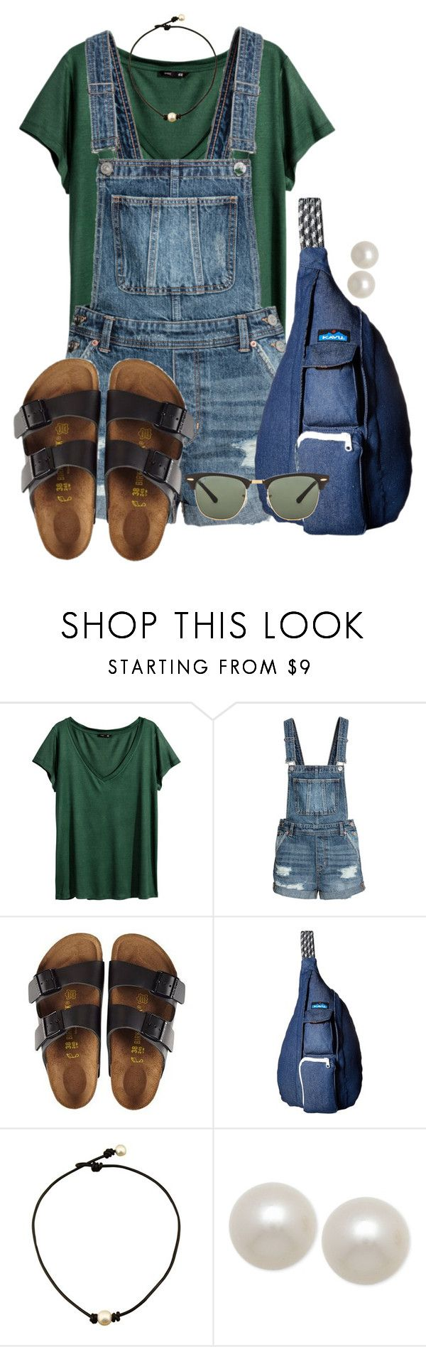 """""""Good morning!!!"""" by annaewakefield ❤ liked on Polyvore featuring H&M, Birkenstock, Kavu, Honora and Ray-Ban"""