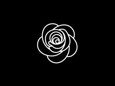 Rose pictogram - outline. Graphic symbol by Vera Matys.