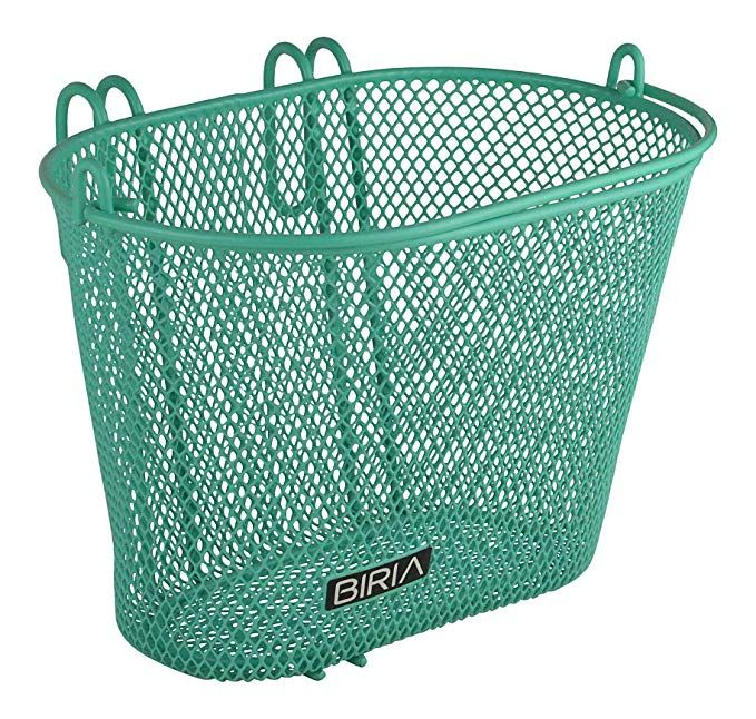 Biria Basket With Hooks Green Front Removable Children Wire Mesh Small Kids Bicycle Basket New Green Review Bicycle Basket Kids Bicycle Wire Mesh