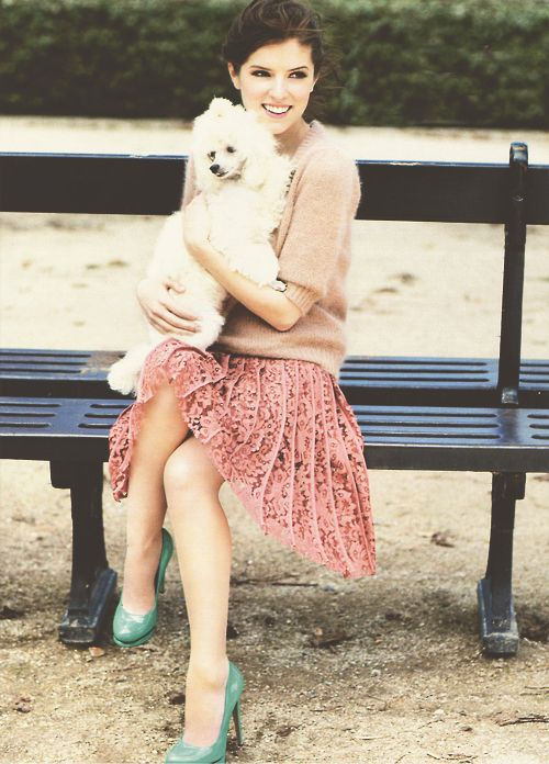 I loovvveee that skirt and shoes.  The poodle's not bad either.