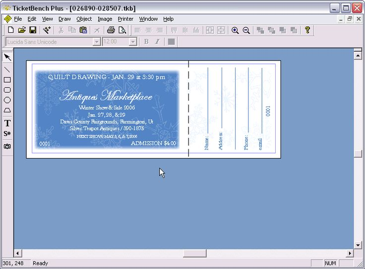 Printable Ticket Template - peelland-fm.tk