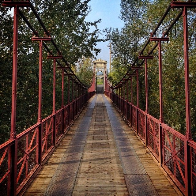 I love the suspension bridge in Sasso Marconi - Instagram by @Kate McCulley