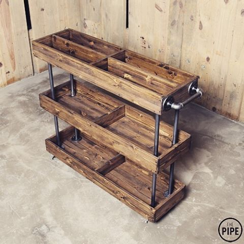 142 best galvanized pipe creations images on pinterest for Diy galvanized pipe table