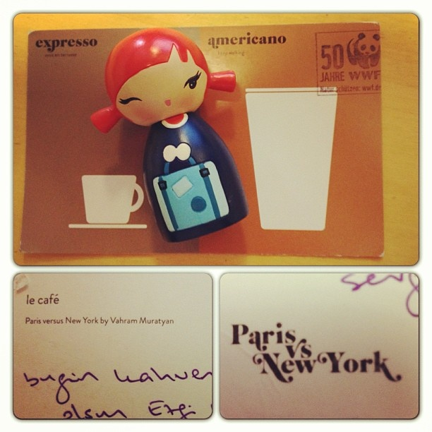 one of the winners @egoka; Paris vs. New York postcards #giveaway! ;) #postcard #postcrossing #paris #newyork #citypostcards #momiji #WWF #stamp